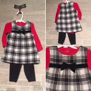 Adorable outfit Sz 6M dress pants creeper NEW